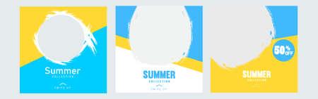 social media post Set of Editable minimal square banner template