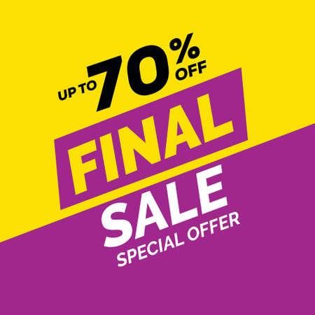 Special offer final sale banner, Limited offer Vector illustration