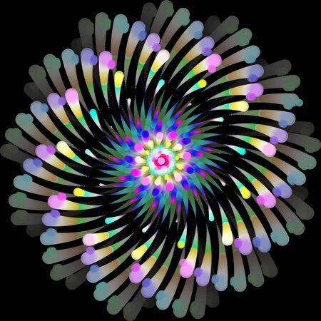 Conception de tourbillon de sphère abstraite