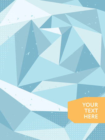 glacial: Abstract polygonal ice background. Poster, banner or cover Illustration