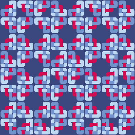 wiccan: Celtic knot abstract seamless colorful pattern. Vector illustration Illustration