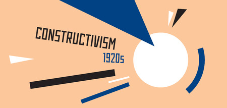 constructivism: Soviet constructivism abstract illustration. Stylised 1920s years