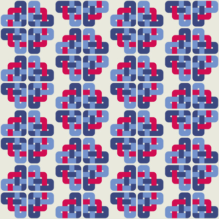 celt: Celtic knot abstract seamless colorful pattern. Vector illustration Illustration
