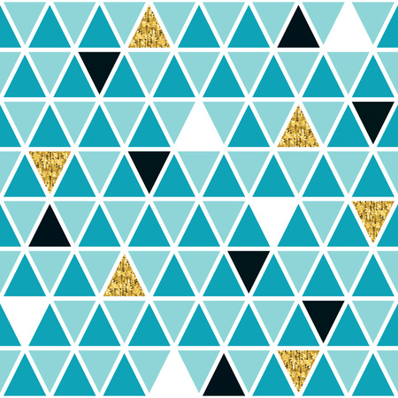 glamourous: Glamourous geometric seamless pattern with real gold. Glitter. Vector illustration