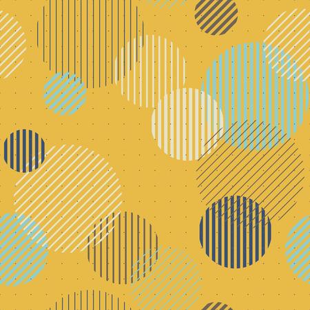 similar: Lines and circles seamless pattern, vector illlustration