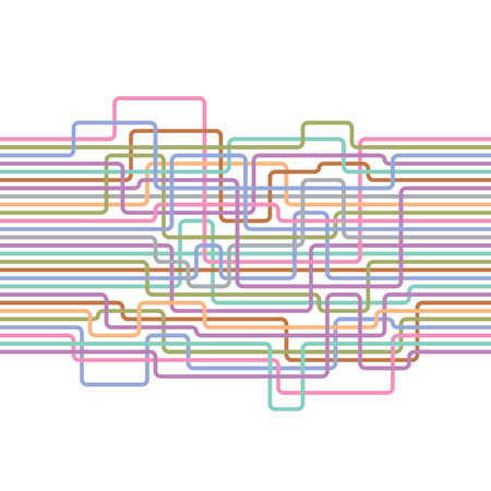 electric wire: Multicolored lines abstract seamless pattern. Electric wire