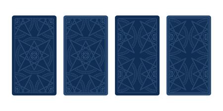 diviner: Tarot card reverse side. Classic designs. Vector illustration