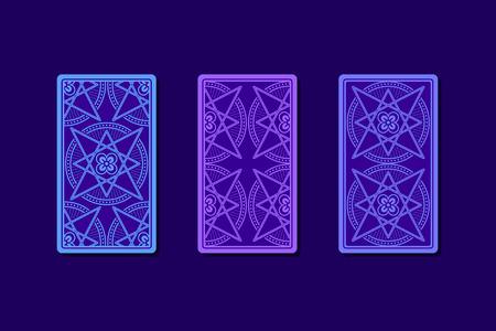 soothsayer: Las cartas del tarot por el reverso. Los diseños clásicos. ilustración vectorial Vectores