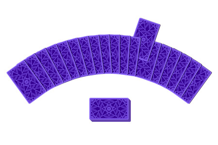 reverse: Tarot cards by reverse side laying in a semicircle. Choice concept