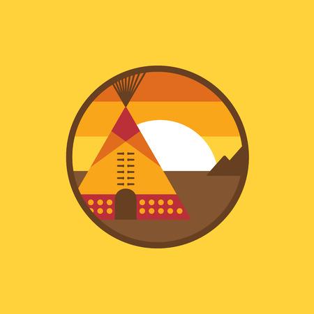 tipi: American indian tipi icon. Vector illustration