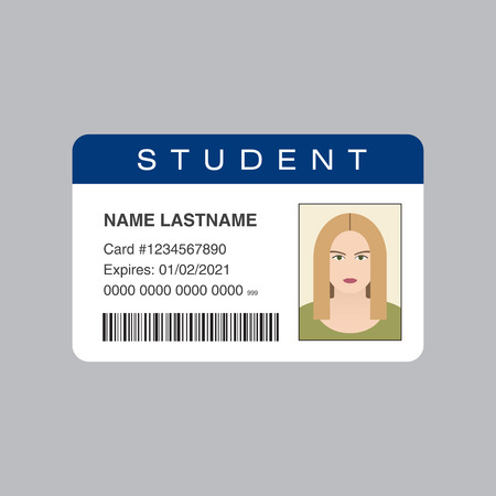 surname: Student ID card. Vector illustration Stock Photo