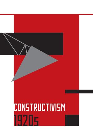 constructivism: Soviet constructivism abstract illustration. 1920 years. Vector Stock Photo