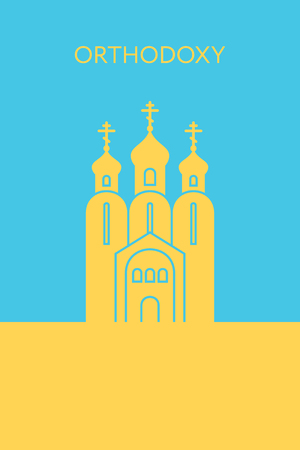 Orthodox christianity church icon. Religious building. Landmark