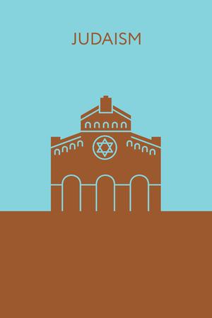 shabat: icono de la sinagoga. concepto de judaísmo. edificio religioso