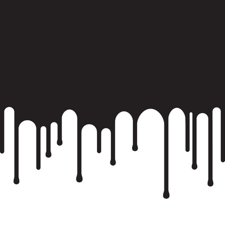 Dripping black paint background. Painting concept. Vector