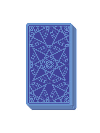 Tarot cards reverse side. Deck. Stack of cards. Vector