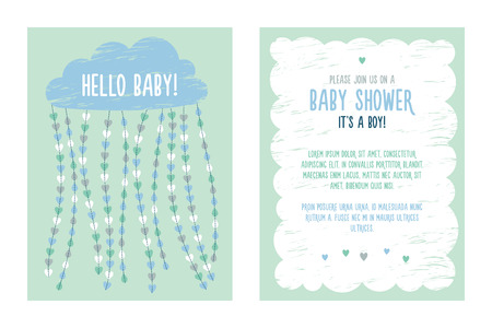 kids birthday party: baby shower invitation Stock Photo