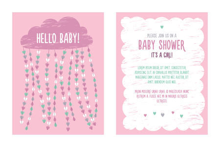 baby announcement card: baby shower invitation Stock Photo