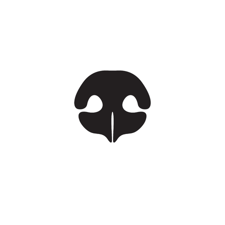 Dog's nose icon. Element of logo for pet shop, vet clinic, dog products or services. Vector Illustration
