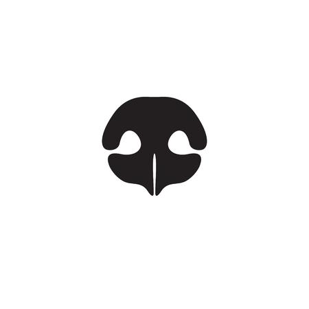 Icono de nariz de perro. Elemento de logotipo para tienda de mascotas, clínica veterinaria, productos o servicios para perros. Ilustración vectorial Foto de archivo - 71090544