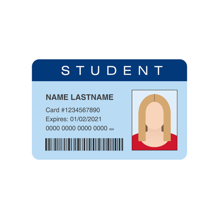 personal identification number: Student ID card. Vector illustration Stock Photo