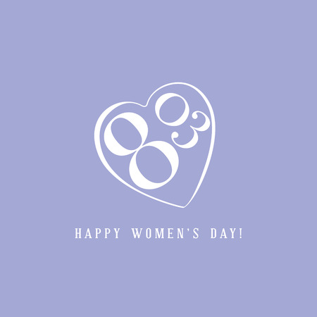mart: The eighth of march greeting card. International women day Illustration