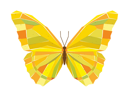 Geometric mosaic butterfly. Vector illustration