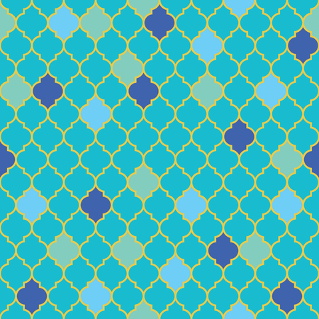 Flat moroccan seamless pattern, vector illustration