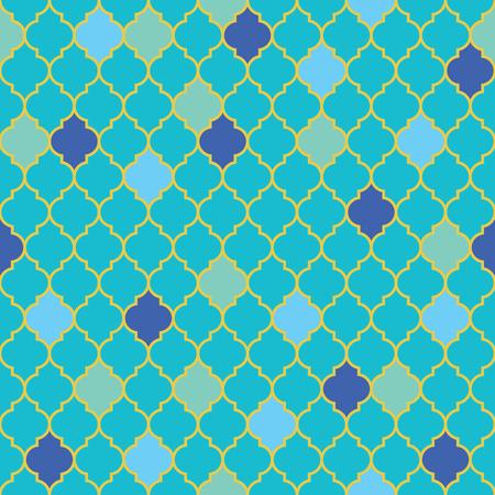 Vlak Marokkaans naadloos patroon, vectorillustratie Stockfoto - 78113817