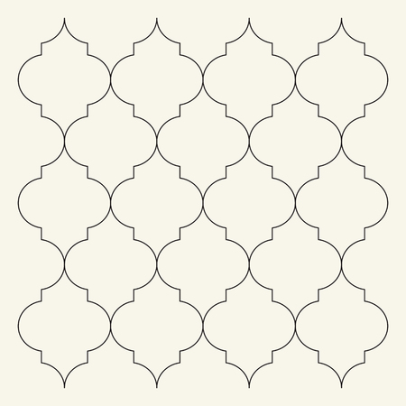 Flat Outline Moroccan Pattern Vector. Tile Template Stock Photo ...