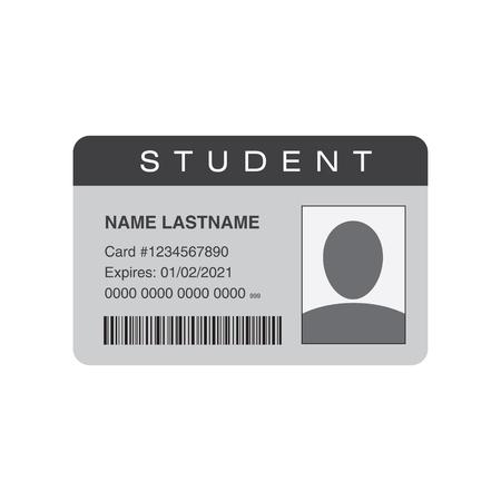Student ID card. Vector illustration Stock Photo