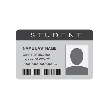 Student ID card. Vector illustration 版權商用圖片