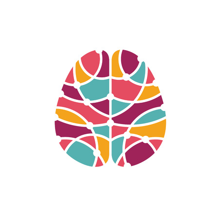 Human brain abstract icon. Brain research concept Stock Photo