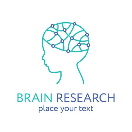 Child head icon. Brain research concept, vector Stock Photo