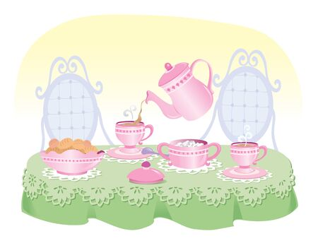 Vector illustration of coffee or tea concept.