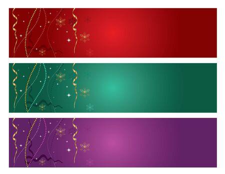 Vector illustration red, green, purple background concept set.