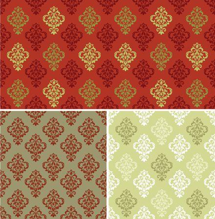 Seamless Damask Pattern. Vector illustration Standard-Bild - 134740011