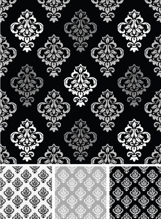 Seamless Damask Wallpaper. Vector Standard-Bild - 134680716