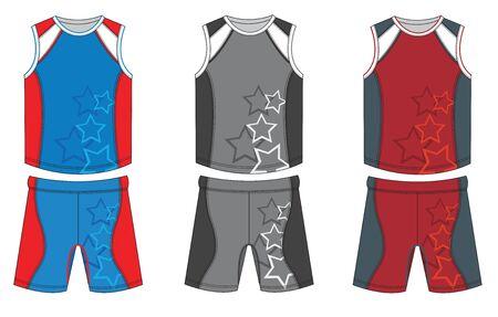 Basketball Uniform Jersey Design. Vector illustration