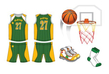 Basketball Player Equipment. Vector illustration