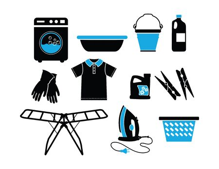 Cleaning Equipment Vector Illustration Ilustração