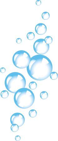 Soap foam bubbles vector concept. Fizzy sparkles. Undersea vector texture. Gradients only (no mesh, no transparency)