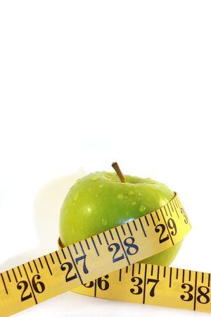 temperance: Apple Diet Stock Photo