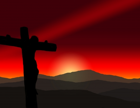 Jesus Christ the Savior of the world crucified Stock Photo