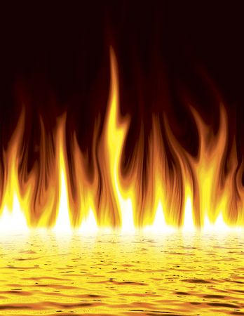 condemnation: Flames of fire pouring out of lake