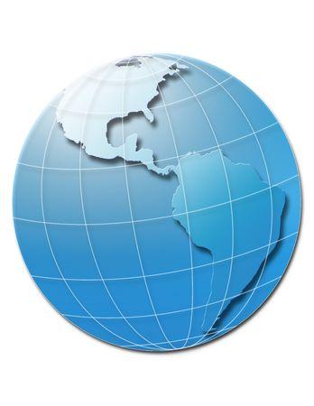Illustration of the world globe showing America Stock Illustration - 5909935