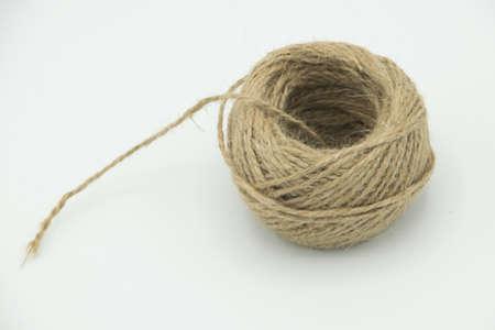 bunch of vintage brown yarn 版權商用圖片