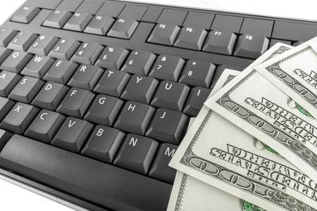 teclado de computadora: Dinero en el teclado de la computadora