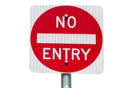 no entry: No Entry road sign white background isolated