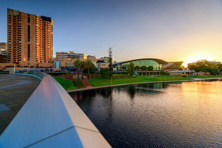 city center: Adelaide City Business District, Riverbank Bridge across Torrens River